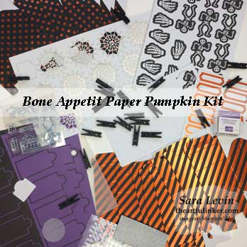 Bone Appetit September 2019 Paper Pumpkin Kit contents. Shop for Stampin Up at theartfulinker.com