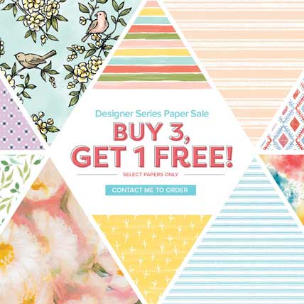 Buy 3 Get 1 FREE designer papers. Shop for Stampin Up products at theartfulinker.com