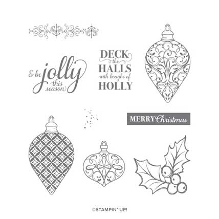 Christmas Gleaming Stamp Set. Shop for Stampin Up products at theartfulinker.com