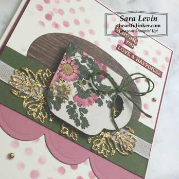 Cup of Christmas with Pressed Petals, layering detail. Shop for Stampin Up products at theartfulinker.com