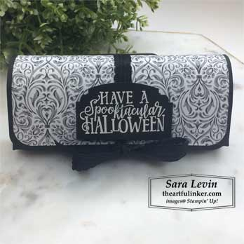 Spooktacular Clutch for 9 Weeks of Halloween Week 5 tutorial. Shop for Stampin Up products at theartfulinker.com