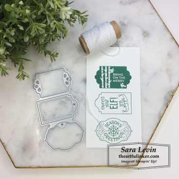 Simple tags made with Tags Tags Tag for Stamping Sunday Blog Hop Tags Tags Tags. Shop for Stampin Up products at theartfulinker.com