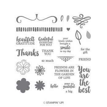 A Big Thank You stamp set. Shop for Stampin Up products at theartfulinker.com
