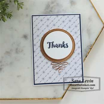 A Big Thank You Fast Friday card stepped up. Shop for Stampin Up products at theartfulinker.com