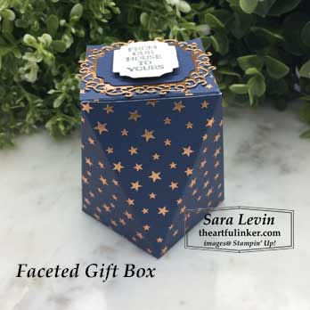 Brightly Gleaming Faceted Gift Box. Shop for Stampin Up products at theartfulinker.com