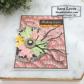 Colorful Seasons with Mosaic Mood, angled view. Shop for Stampin Up products at theartfulinker.com
