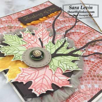 Colorful Seasons with Mosaic Mood, leaf detail. Shop for Stampin Up products at theartfulinker.com