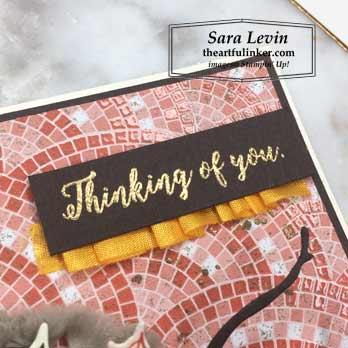 Colorful Seasons with Mosaic Mood, sentiment detail. Shop for Stampin Up products at theartfulinker.com