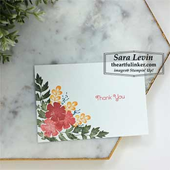 Everything is Rosy no layer card. Shop for Stampin Up at theartfulinker.com