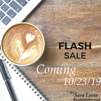Stampin Up Flash Sale coming October 23. Shop for Stampin Up at theartfulinker.com