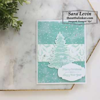 Itty Bitty Christmas with Let It Snow Christmas card for Stamping Sunday Blog Hop Itty Bitty Christmas. Shop for Stampin Up products at theartfulinker.com