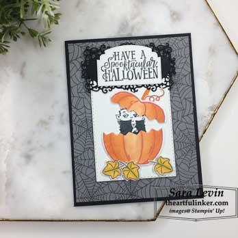 Spooktacular Bash Halloween Card for OSAT Blog Hop Spooktacular. Shop for Stampin Up products at theartfulinker.com