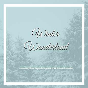 Winter Wonderland Stampin Glam Squad October 2019 Tutorial Bundle. Shop for Stampin Up products at theartfulinker.com