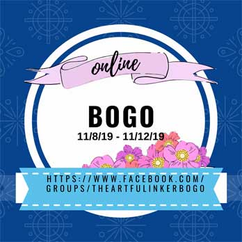 Stampin Up BOGO on stamps, dies, punches, embossing folders at https://www.facebook.com/groups/theartfulinkerbogo