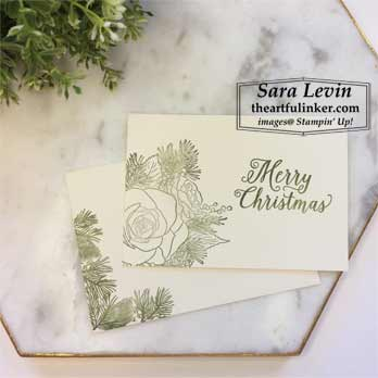 Christmas Rose simple stamping Christmas card. Shop for Stampin Up products at theartfulinker.com