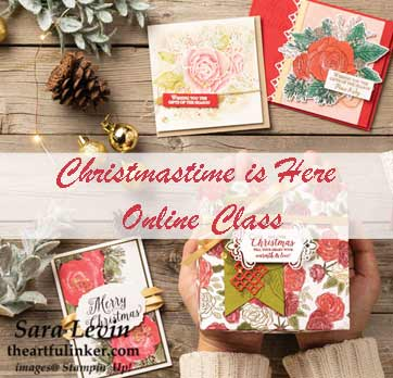 Christmastime is Here online class. Shop for Stampin Up products at theartfulinker.com