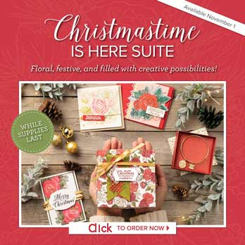 Shop for Christmastime is Here Suite and individual stamps, paper and embellishements.