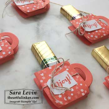 Cup of Christmas Table Treat, detail. Shop for Stampin Up products at theartfulinker.com