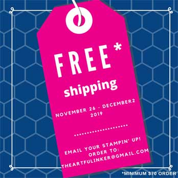 #freeshipping on Stampin Up November 26 - December 2 2019 at theartfulinker.com
