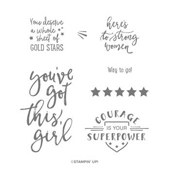 Here's to Strong Women stamp set. Shop for Stampin Up products at theartfulinker.com