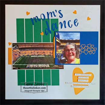 Mom's Dance selfie layout for Scrapbooking Global November 2019 Blog Hop