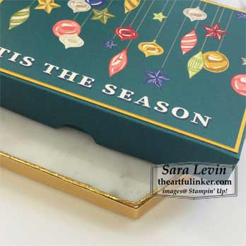 Tis the Season gift box detail for Stamping Sunday Blog Hop Night Before Christmas. Shop for Stampin Up products at theartfulinker.com