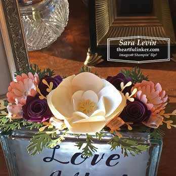 Glass Block Roommate Gift OnStage2019 flower detail. Shop for Stampin Up products at theartfulinker.com