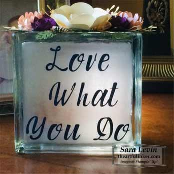 Glass Block Roommate Gift OnStage2019 glass block. Shop for Stampin Up products at theartfulinker.com