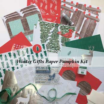 Winter Gifts Paper Pumpkin Kit November 2019 for A Paper Pumpkin Thing Blog Hop Winter Gifts. Subscribe to Paper Pumpkin at theartfulinker.com