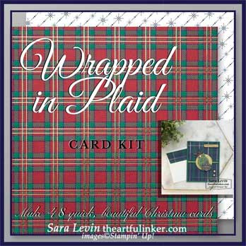 Wrapped in Plaid card kit from theartffulinker.com makes 48 cards. Shop for Stampin Up products at theartfulinker.com