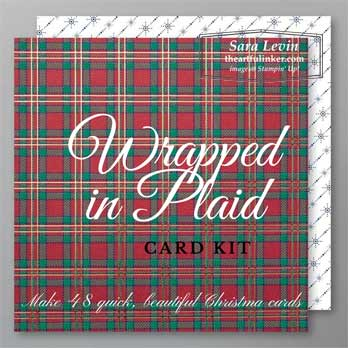 Wrapped in Plaid card kit from theartfulinker.com