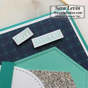 A Wish For Everything Hannukah Card sentiment detail. Shop for Stampin Up with Sara Levin at theartfulinker.com