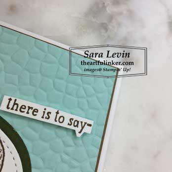 Back on Your Feet Sigh Card, Hammered Metal embossing detail. Shop for Stampin Up products with Sara Levin at theartfulinker.com