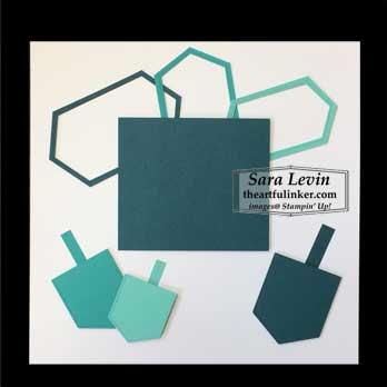 Chanukah scrapbook page for Scrapbooking Global December 2019 Blog Hop. Shop for Stampin Up with Sara Levin at theartfulinker.com
