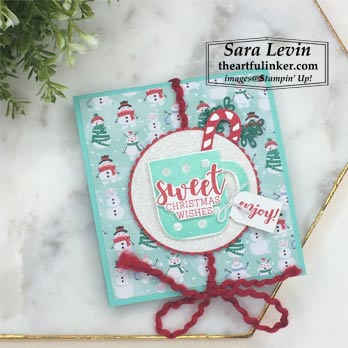 Cup of Christmas avid hot cocoa holder for Stamping Sunday Blog Hop goodbye holiday favorite. Shop for Stampin Up with Sara Levin at theartfulinker.com