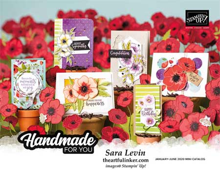 January to June 2020 Mini Catalog. Shop for stampin Up products with Sara Levin at theartfulinker.com