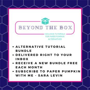 Beyond the Box alternative Paper Pumpkin tutorial bundle from Sara Levin theartfulinker.com
