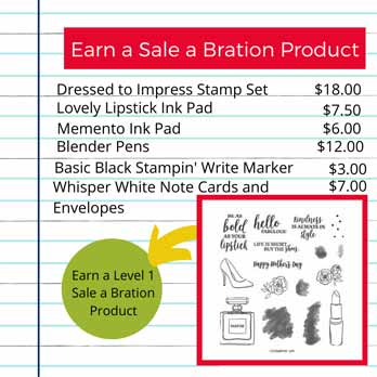 Earn Sale a Bration Product with Dressed to Impress. Shop for Stampin Up with Sara Levin at theartfulinker.com