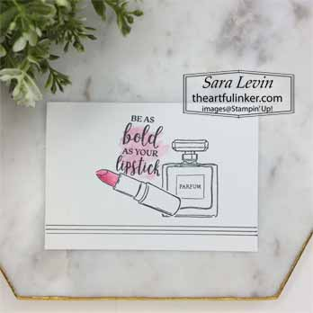 Dressed to Impress simple stamping no layer card for Dressed to Impress No Layer Plus. Shop for Stampin Up with Sara Levin at theartfulinker.com