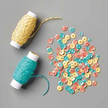 Metallic Baker's Twine and Sequins Combo Pack Sale a Bration 2020. Shop for Stampin Up products with Sara Levin at theartfulinker.com