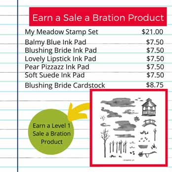 Stampin Up My Meadow stamp set and Sale a Bration. Shop for Stampin Up with Sara Levin at theartfulinker.com