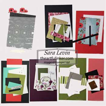 Painted Poppies Online Class kit. Shop for Stampin Up with Sara Levin at theartfulinker.com