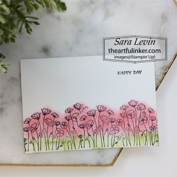 Stampin' Up! Painted Poppies simple stamping card. Shop for Stampin Up with Sara Levin at theartfulinker.com