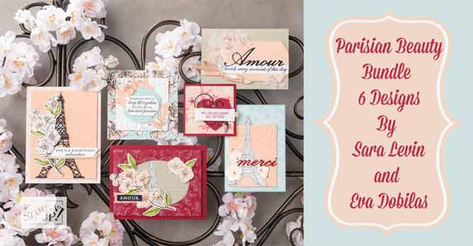 Parisian Beauty Online Class with Sara Levin Shop for Stampin Up at theartfulinker.com