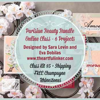Parisian Beauty Online Class with Sara Levin. Shop for Stampin up at theartfulinker.com