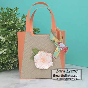 Timeless Tropical Beach Tote Favor for OSAT Blog Hop Purses Poppies and Paris. Shop for Stampin Up at theartfulinker.com
