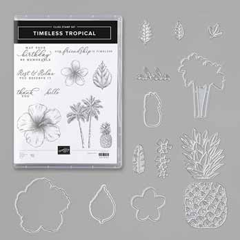 Timeless Tropical Bundle with In the Tropics dies