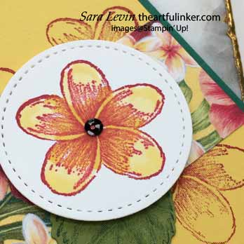 Timeless Tropical Swap Card, detail. Shop for Stampin' Up! with Sara Levin at theartfulinker.com