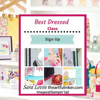 Sign Up for the Stampin Up Best Dressed Online Class. Shop for Stampin Up with Sara Levin at theartfulinker.com