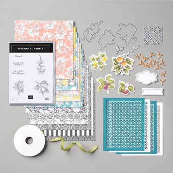 Stampin Up Botanical Prints Medley. Shop for Stampin Up with Sara Levin at theartfulinker.com